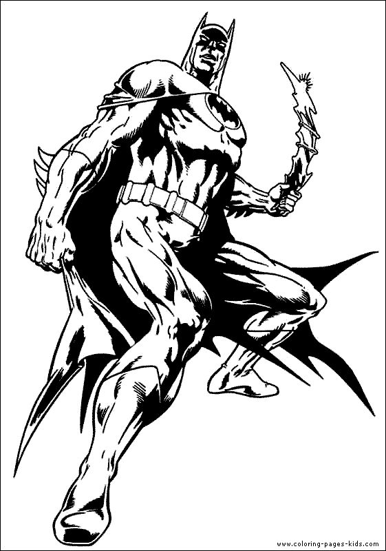 Batman Color Page Cartoon Characters Coloring Pages Plate Sheetprintable