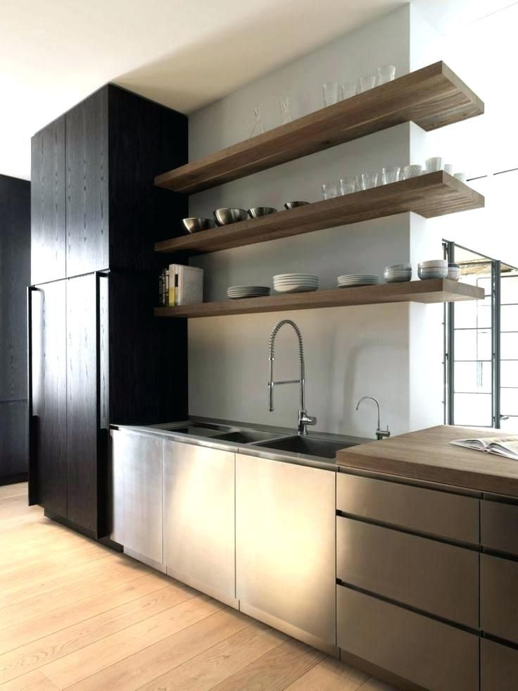 Modern Kitchen Floating Shelves Contemporary Rustic Hanging Design Ideas With M Contemporary Kitchen Design Kitchen Design Open Modern Kitchen Shelves