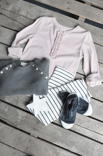 Fall Girls :: Mirabelle Top - Hampton Sweater - Knit Legging - Bensimon Elly - Olive Juice | Childrens Clothing | Girls Dresses | Kids Clothes | Girls Clothing | Classic Kids Clothing