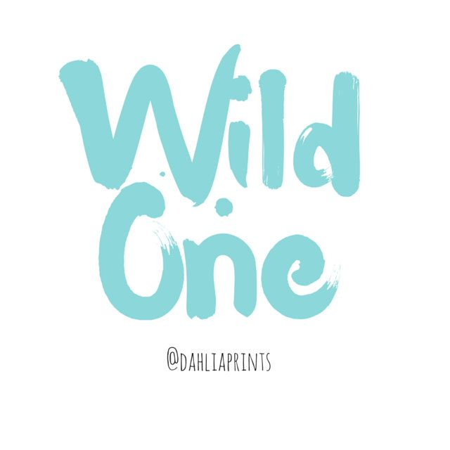 Wild one Print. by DahliaPrints on Etsy
