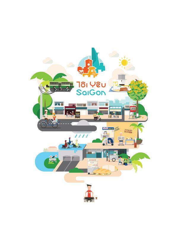 It's All About Saigon by Tu Bui, via Behance