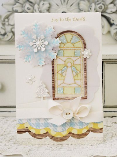 gold embossing, vellum, and glitter by melissa - love!!