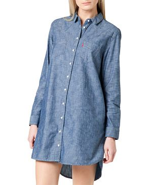 Levi's western shirtdress indigo