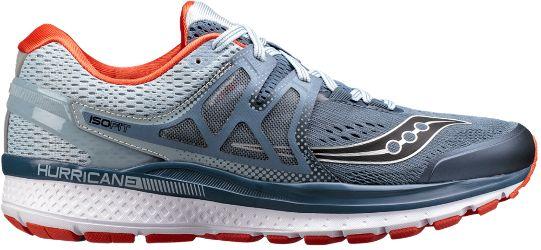 Saucony Men's Hurricane ISO 3 Road-Running Shoes Grey/Blue 11.5