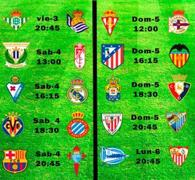 La Liga Full: Horario Jornada 26