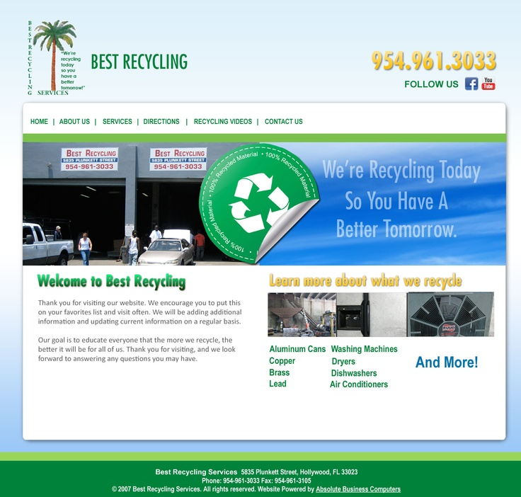 Redesign of Best Recycling Website