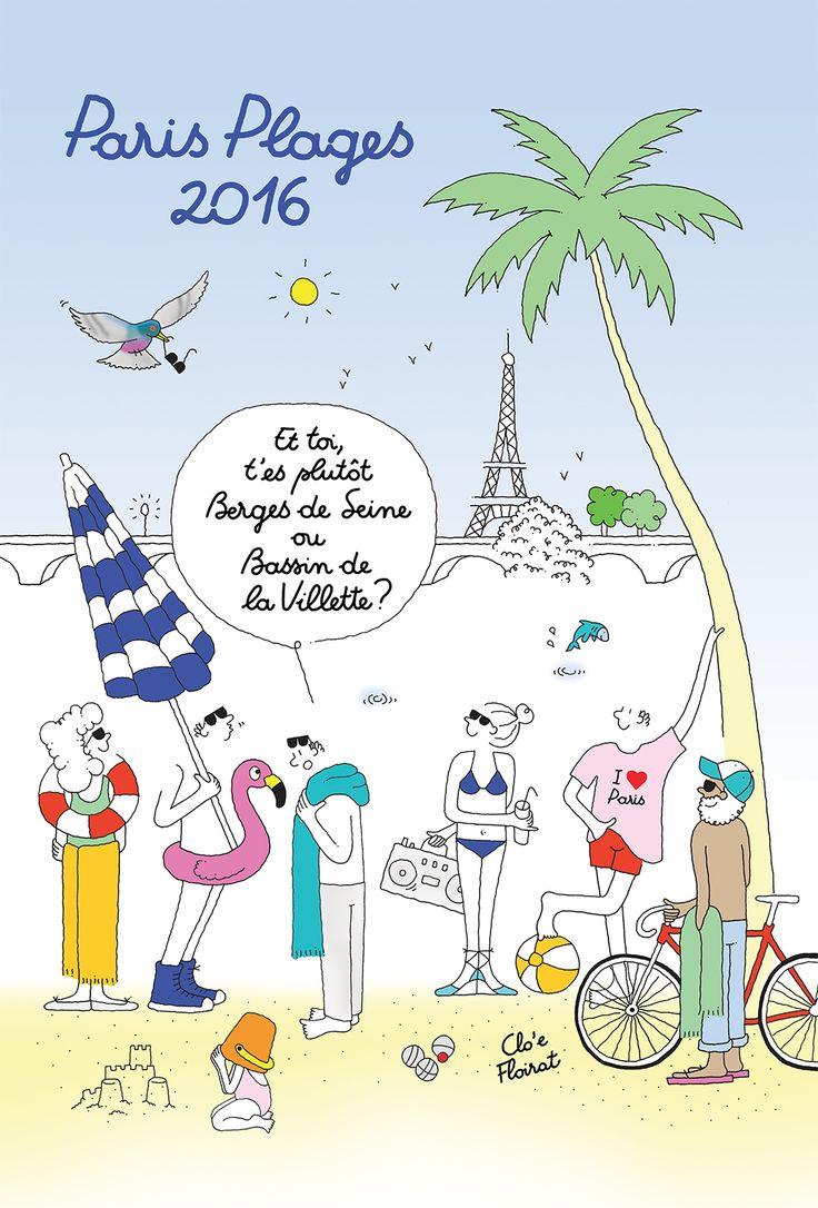 Affiche Paris Plages 2016 par Clo'e Floirat