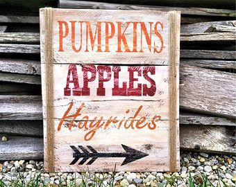 pallet projects for fall. fall decor sign pumkins apples hayrides by charmingwillows pallet projects for e