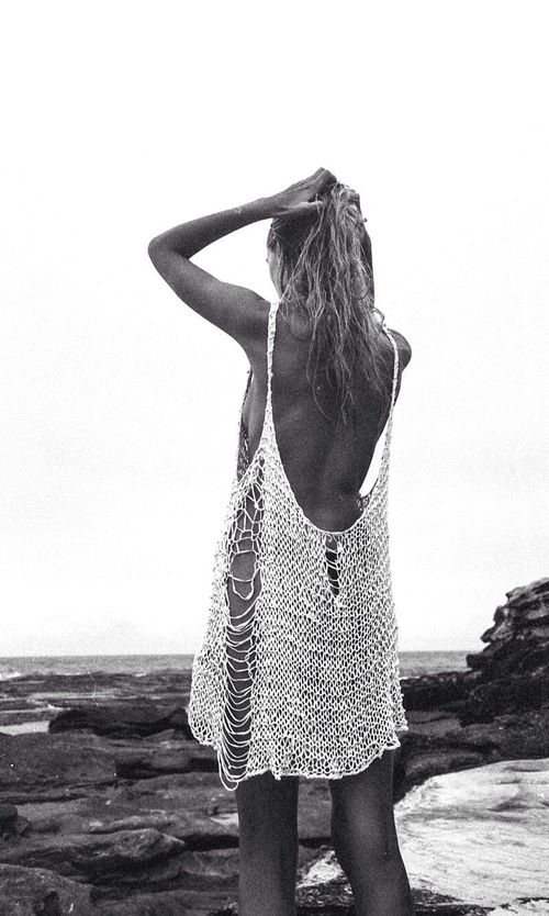 open knit beach cover up #style #fashion #summer