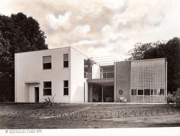"""Giuseppe Terragni. Casa sul lago per l'artista alla """"Mostra dell'abitazione"""", V Triennale di Milano 1933 - Google-Suche"""