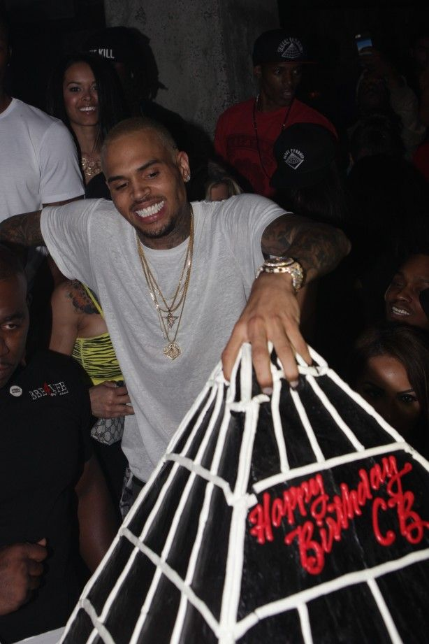 "Chris Brown's birthday cake 2013. He also has a clothing line called ""Black Pyramid"" coming out."