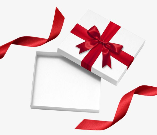 White Gift Box Gift Clipart Open Empty Png Transparent