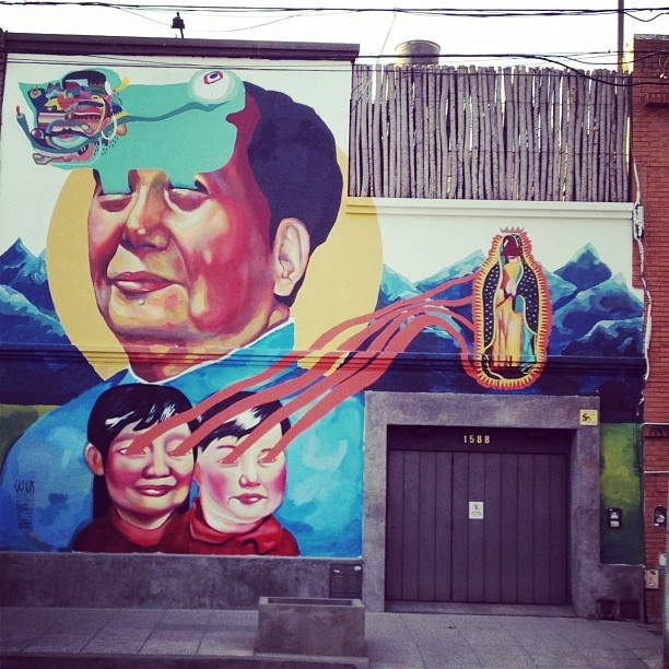 Mural across from our house in Palermo Viejo, in Buenos Aires, Argentina by @chamorro_chica #IGTravelBook #instagram #travel