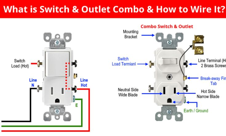 Diagram  How To Wire A Light Switch And Outlet Combo