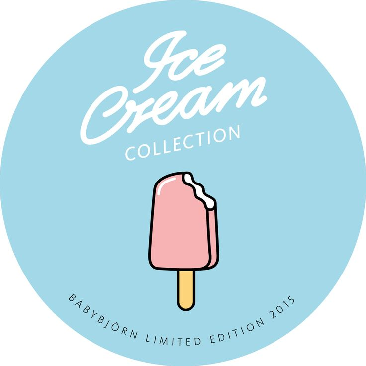 Edición Limitada - Hamaca mecedora para bebé y mochila porta bebé de Babybjörn - verano - helado - icecream
