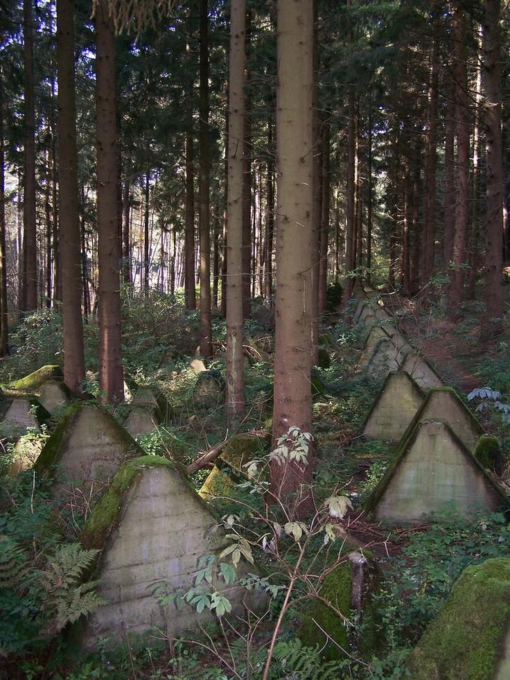 "WWII - Europe:  ""Dragon Teeth"" Siegfried Line - Westwall"