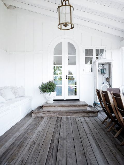 Verandah love- the hardwood decking has been left untreated to age into a lovely grey hue!