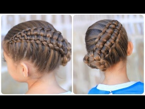 Evie's hair for the Daddy Daughter Dance tonight! Zipper Braid Updo | Cute Girls Hairstyles (+lista de reproducción)