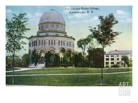 schenectady new york pictures | Schenectady, New York - Exterior View of Union College Library Art ...
