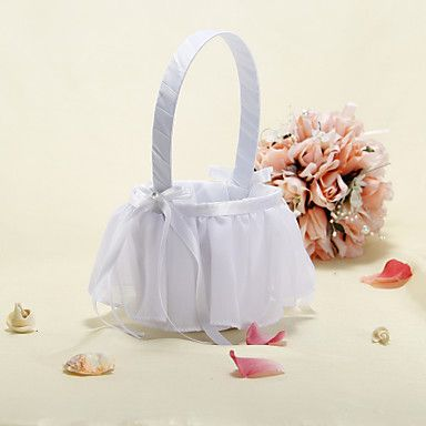 Flower Basket With Ribbon and Yarn Decorated – USD $ 13.76
