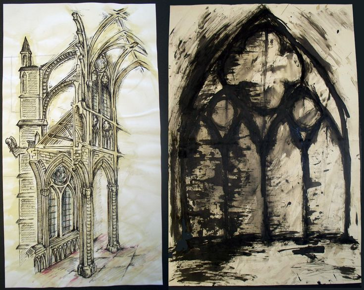 Gothic Architecture Drawing Design Simple Gothic Architecture