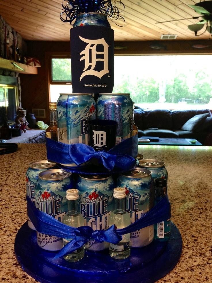 Detroit Tiger beer cake Mj Pinterest