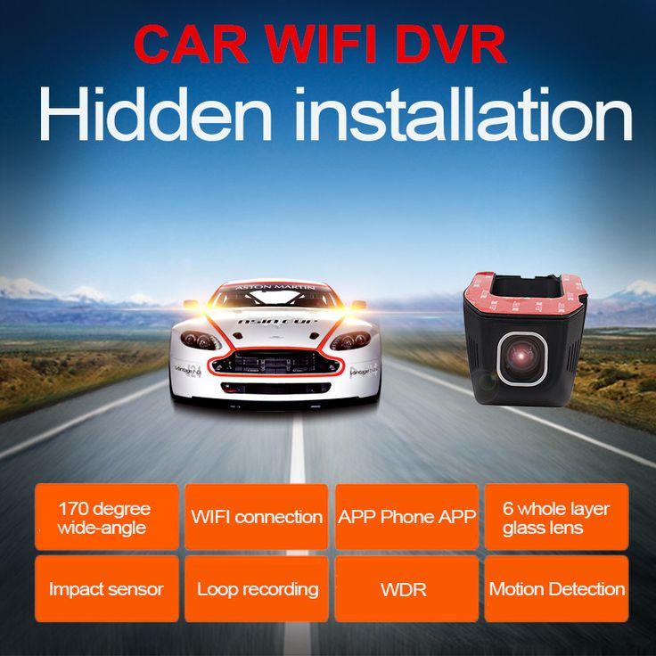 Best Wifi Car DVR DVRs Registrator 1080P Night Version Dash Camera Cam Digital Video Recorder Camcorder Novatek For Android/IOS