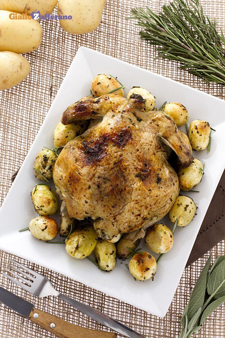 Per una cena informale tra amici, c'è il POLLO ARROSTO (roasted chicken). #ricetta #GialloZafferano #italianfood #italianrecipe