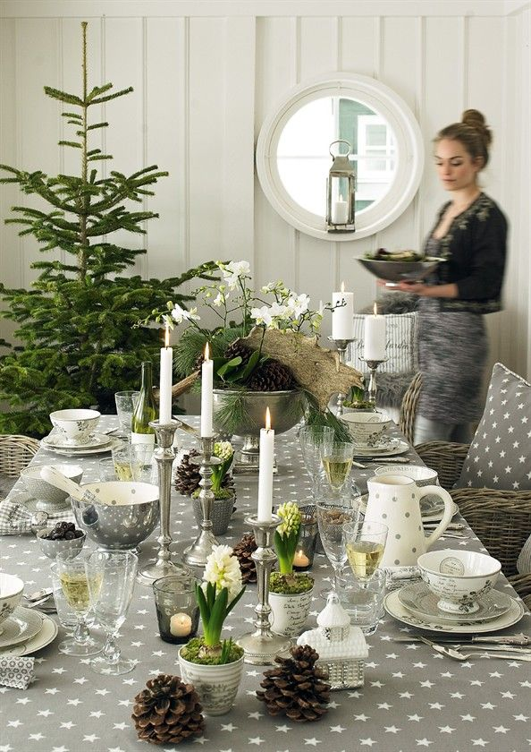 Austere and fresh. Silver and evergreen for a twist on holiday decor ZsaZsa Bellagio – Like No Other: Holiday Decor & More
