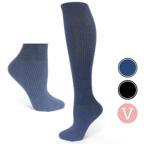 'Ava' CLASSIC Compression Socks, Graduated Fit for Pregnancy - Twin Pack Maternity Ted Stockings Long Socks Pregnancy Maternity Socks