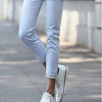 Militare pantalones hombre vendita coreano pantaloni diritti 2015 primavera e l'estate sottile solido comfort casual nove punti vendita all'ingrosso
