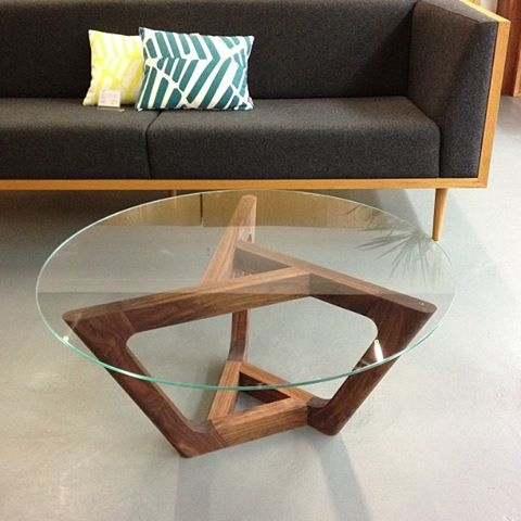 Our Trinn Coffee Table with American Walnut base - cdrfurniture.com