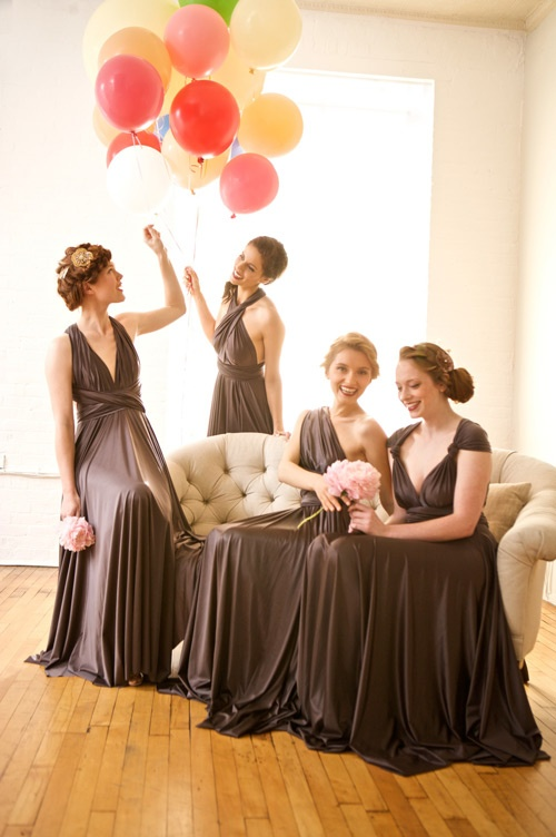 2 birds style bridesmaid dresses glitter