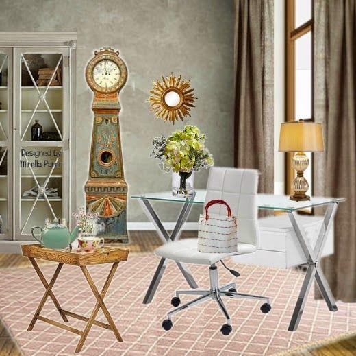 Mirella Parer: Il vecchio orologio collage digitale