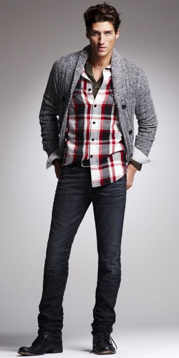Layering with flannel shirts malefashionadvice for Flannel shirt under sweater