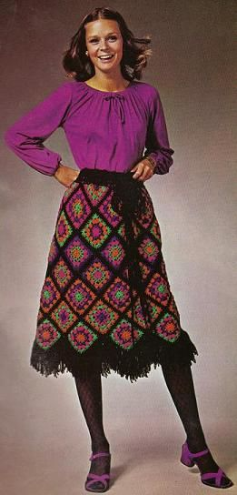 Granny mosaic skirt  - ooh... ooh... will Mrs. Weasley be wearing this in the next Harry Potter movie if Rowling re-visits the story?