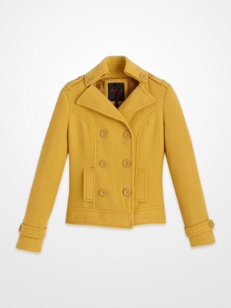 Yoki Fleece Coat 17 99 Mustard Yellow Doublebutton