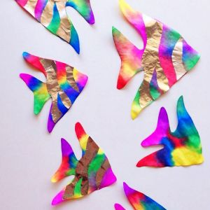 Coffee Filter Rainbow Fish (Kids Craft)