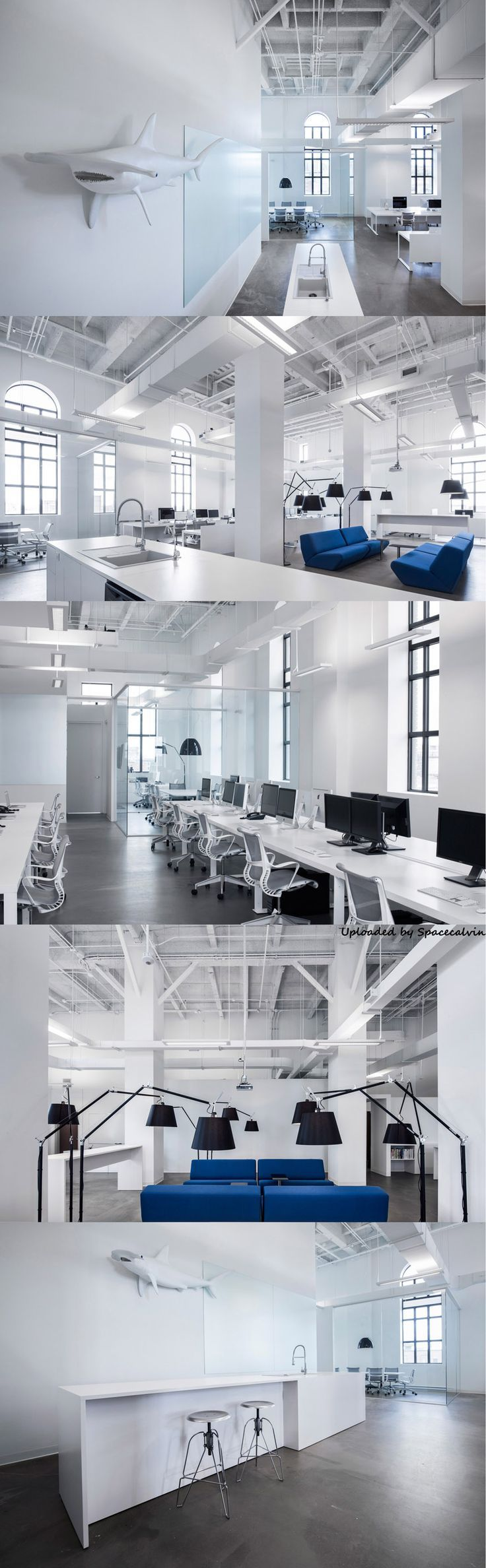 Blue communications office space by jean guy chabauty and - Interior design office space ...