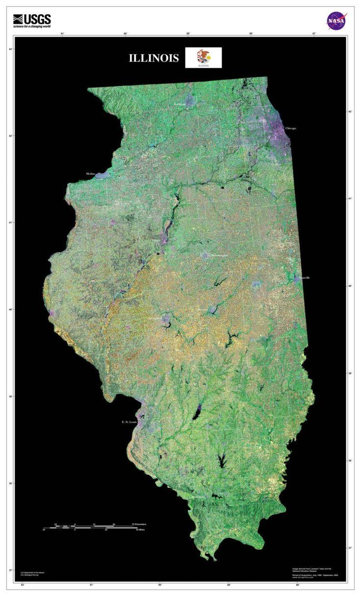 Best Chicago Illinois Images On Pinterest - Chicago map satellite