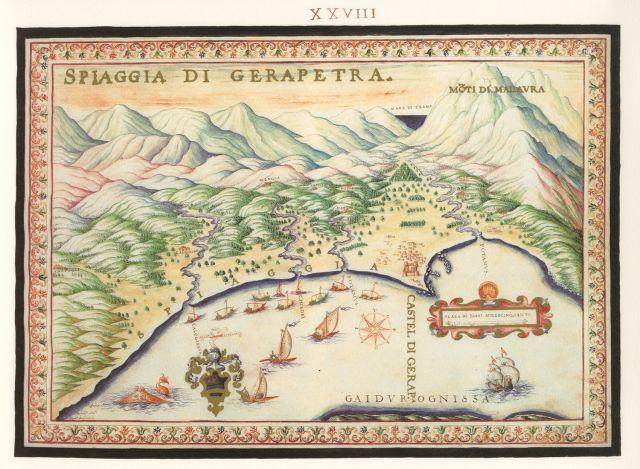 Η παραλία της Ιεράπετρας....Francesco Basilicata..για την Κρήτη...1618 - 1638.