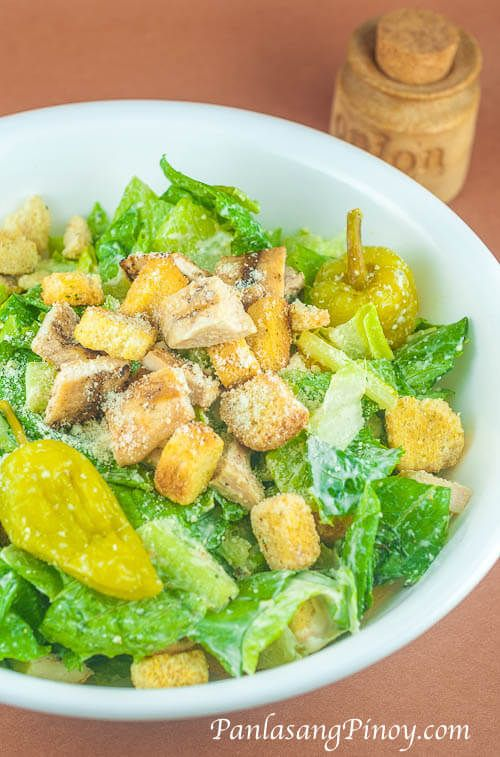 Easy Chicken Caesar Salad Recipe - This Easy Chicken Caesar Salad is a simple Caesar salad recipe that incorporates grilled chicken to give you extra protein in your meal. Since most of you are busy, this Easy Chicken Caesar Salad recipe suggest ingredients that can be bought directly from
