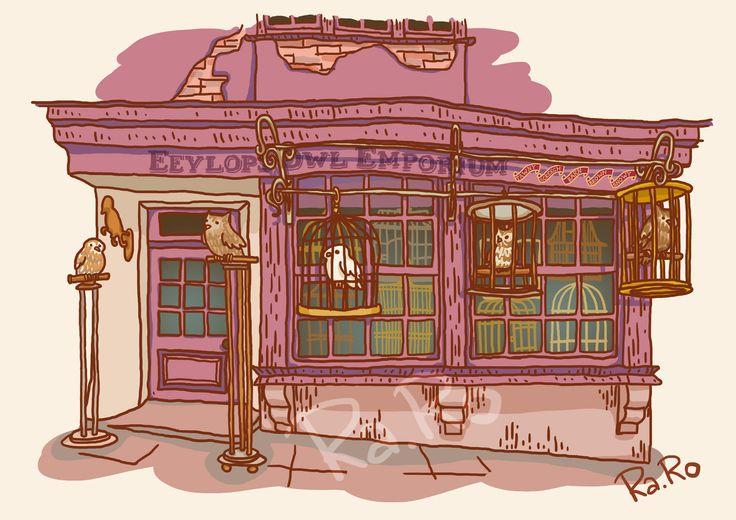 Diagon Alley: Eeylops Owl Emporium by RaRo81.deviantart.com on @DeviantArt