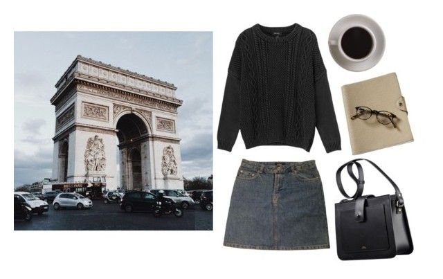 """""""Paris in September"""" by mozart-and-coffee ❤ liked on Polyvore featuring Bunn, Monki, A.P.C. and vintage"""