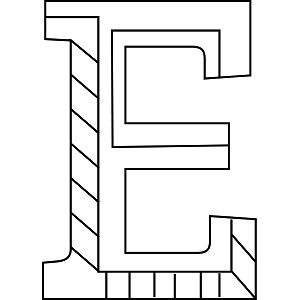Uppercase E Coloring Page Printable LettersColoring PagesBaby