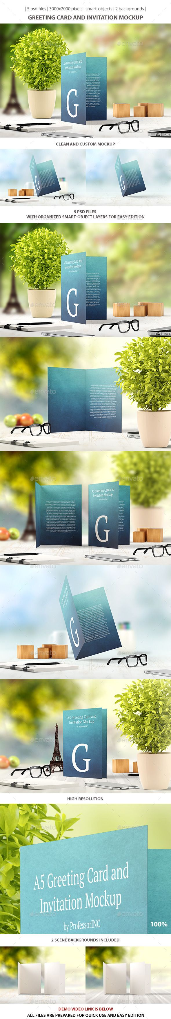 greeting card and invitation mockup download httpgraphicrivernet