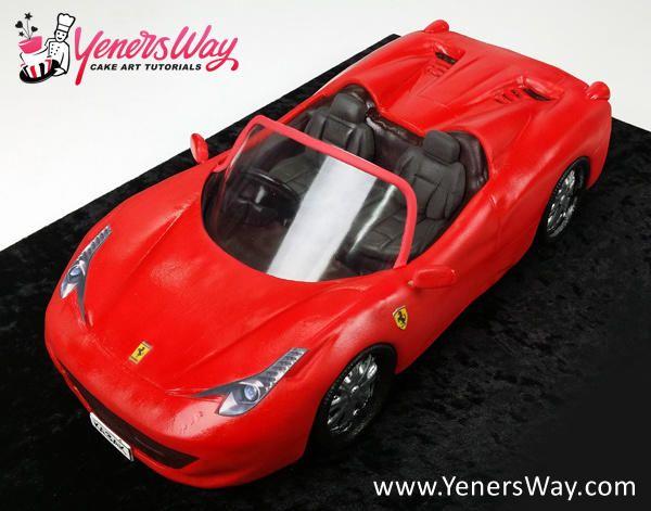 3D Convertible Ferrari 458 Spider Cake