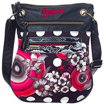 Desigual Bandolera Flower Geometric Shoulder Bag