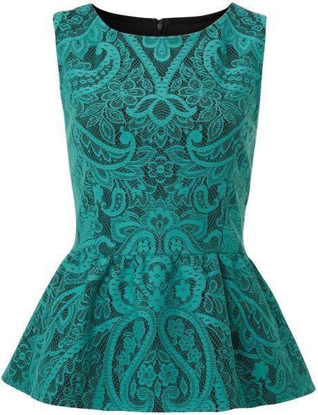 Therapy ~ Bonded Lace Peplum Top