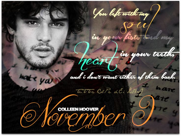 Ben from November 9 by Colleen Hoover